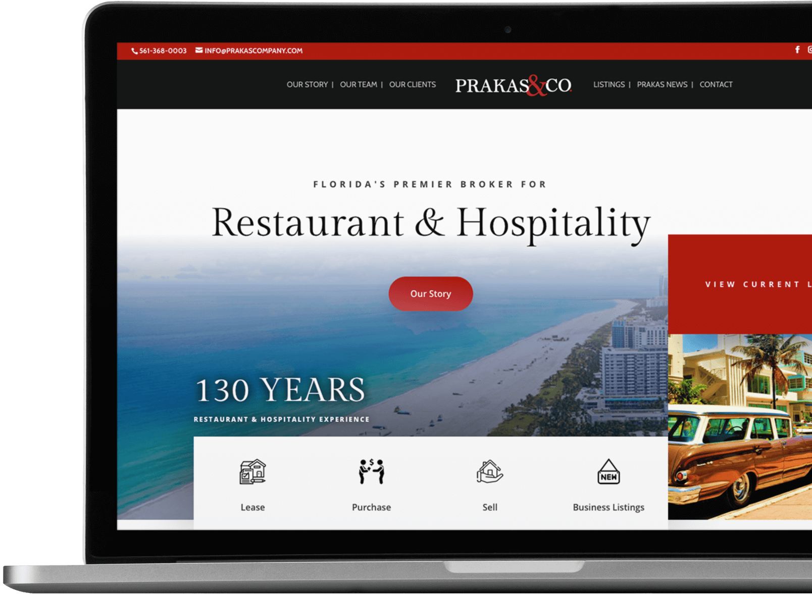 Recent website design for a Restaurant Broker in Florida dalex design group Home laptop right overflow 2x copy 1024x751