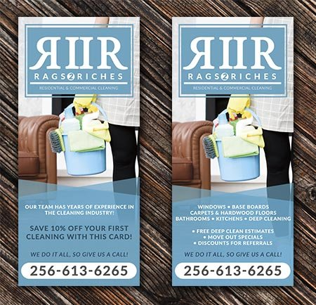 Cleaning Service Rack Card
