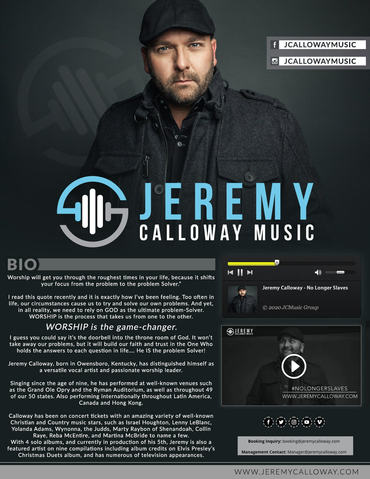 our work Our Work JeremyCalloway OneSheet