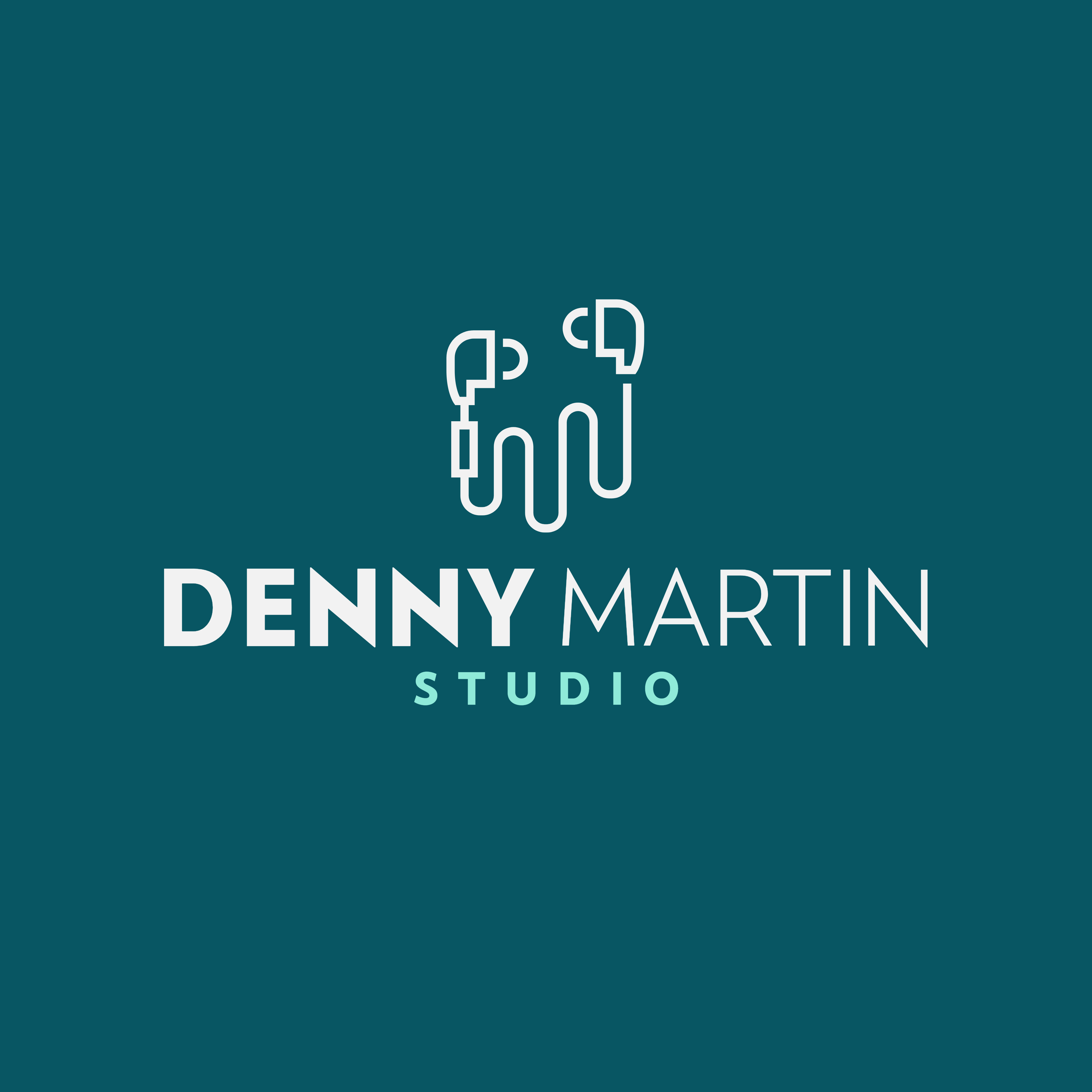 Denny Martin Studio Logo by Dalex Design our work Our Work logo creator for a recording studio featuring a headphones graphic 408b el1 1024x1024
