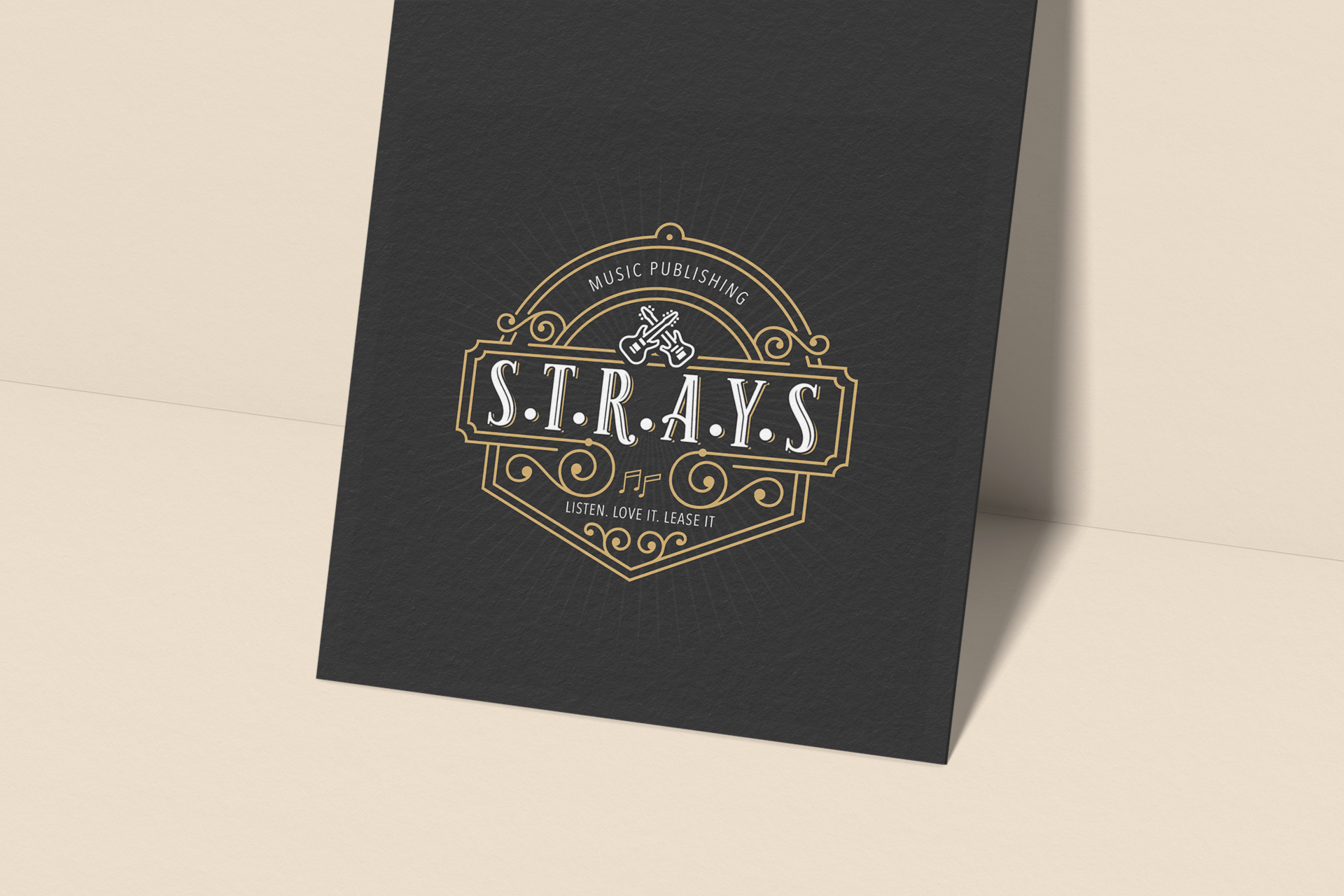 logo mockup featuring a close up to a vertical business card 1682 el