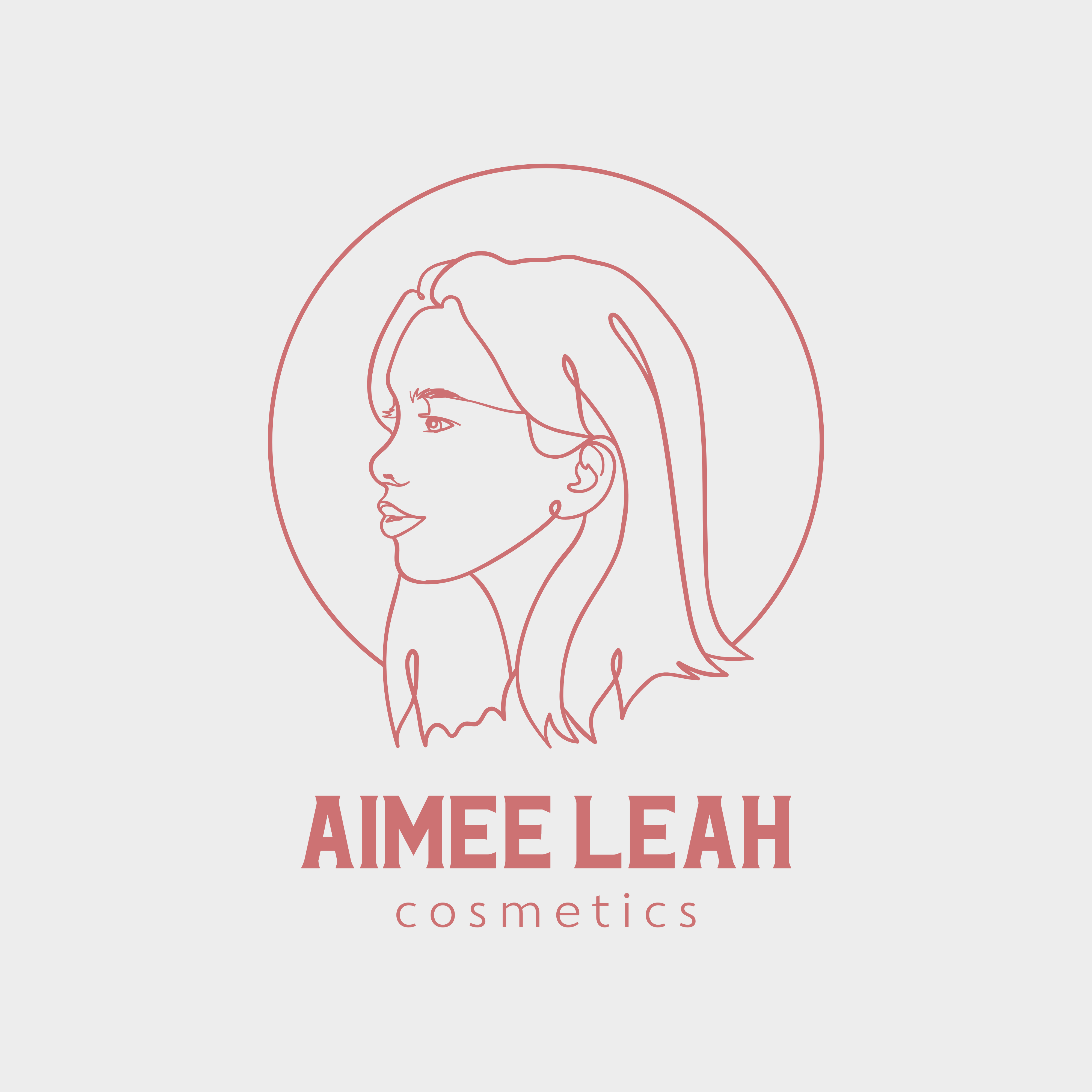 Aimee Leah Cosmetics logo design by Dalex Designs our work Our Work logo template for a cosmetic brand featuring line drawings 2960 1024x1024