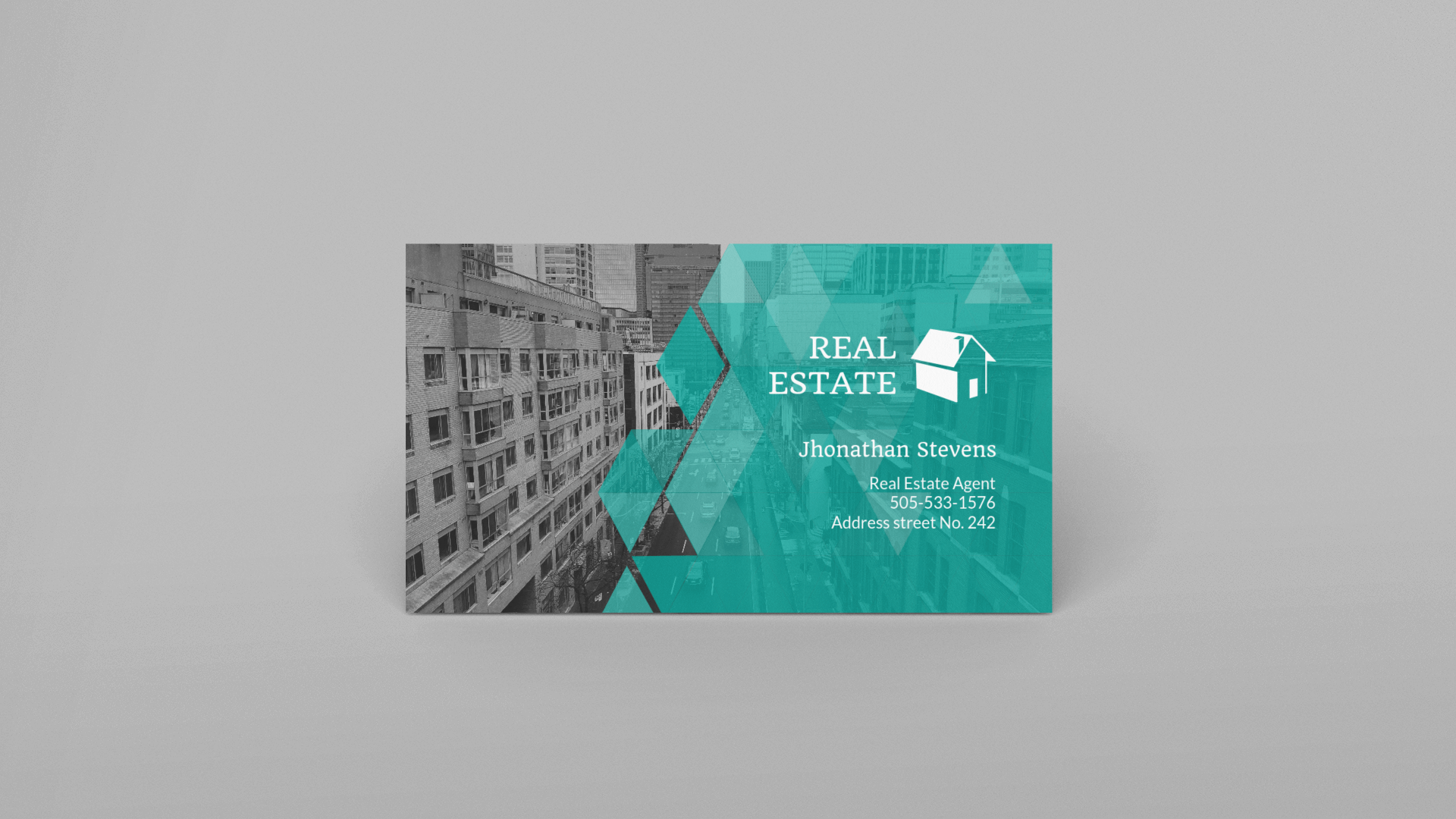 business card mockup on a solid surface 25038 2