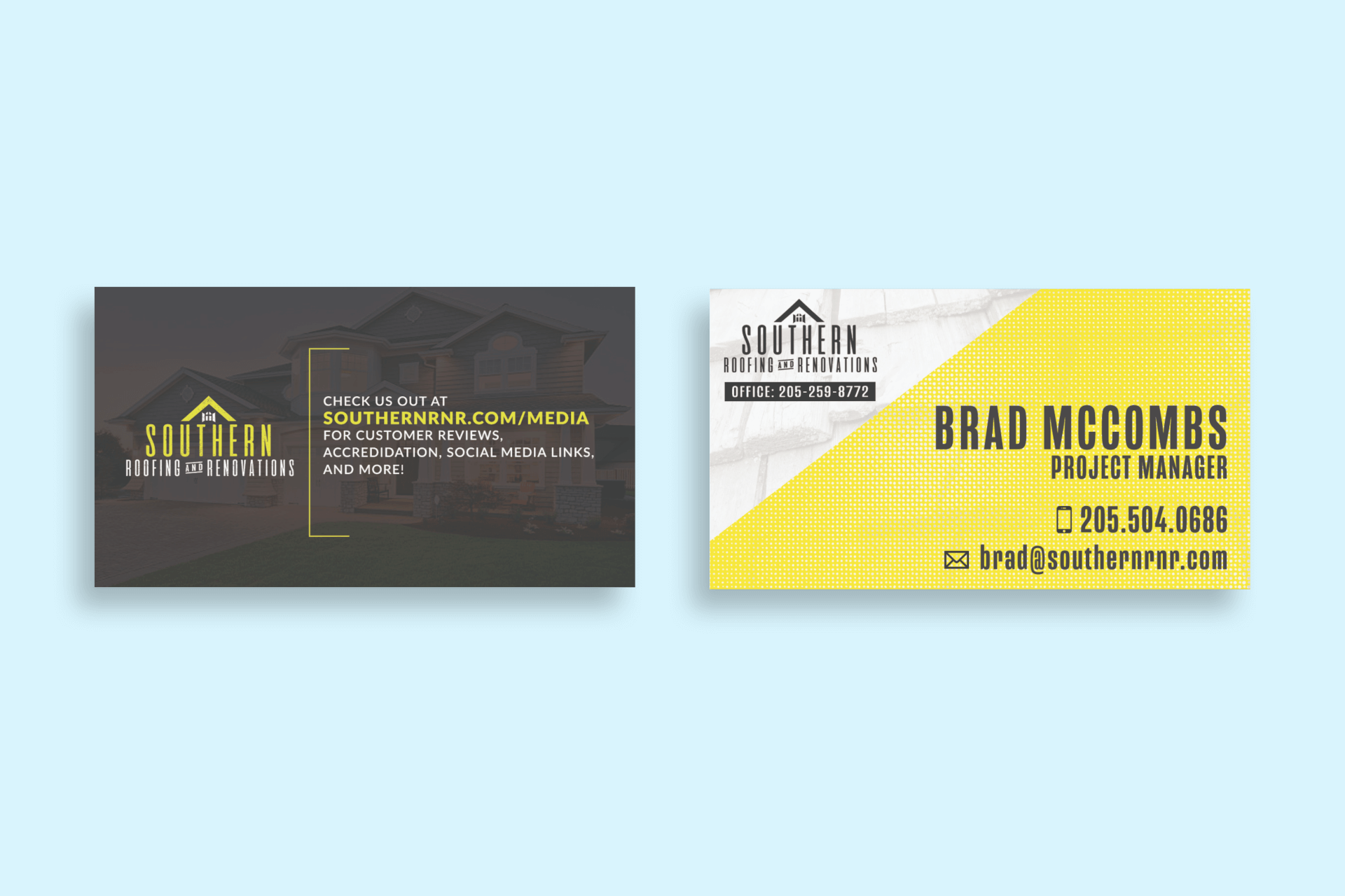 our work Our Work minimal mockup featuring two business cards lying on a colored surface 775 el