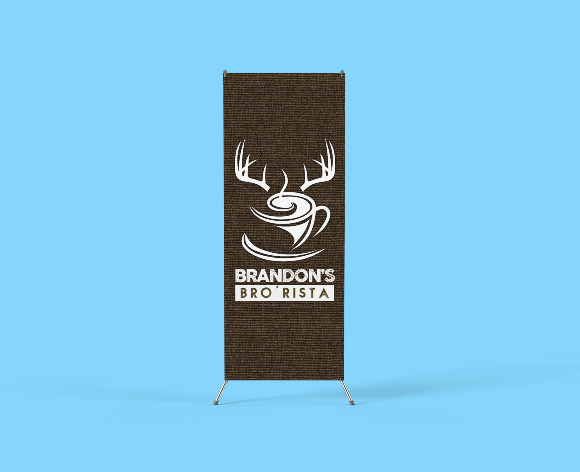 x stand banner mockup with a customizable backdrop 809 el 1